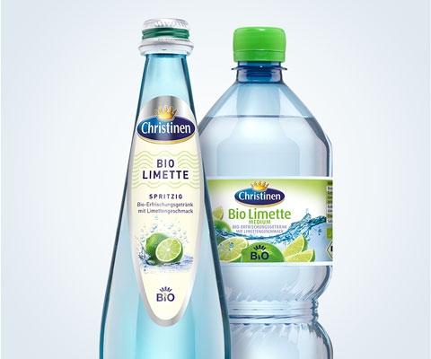 Christinen Premiummineralwasser in Bio-Qualität, Bio Limette