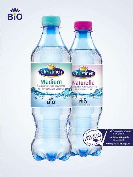 Christinen Premiummineralwasser in Bio-Qualität, 0,5l PET, Einweg