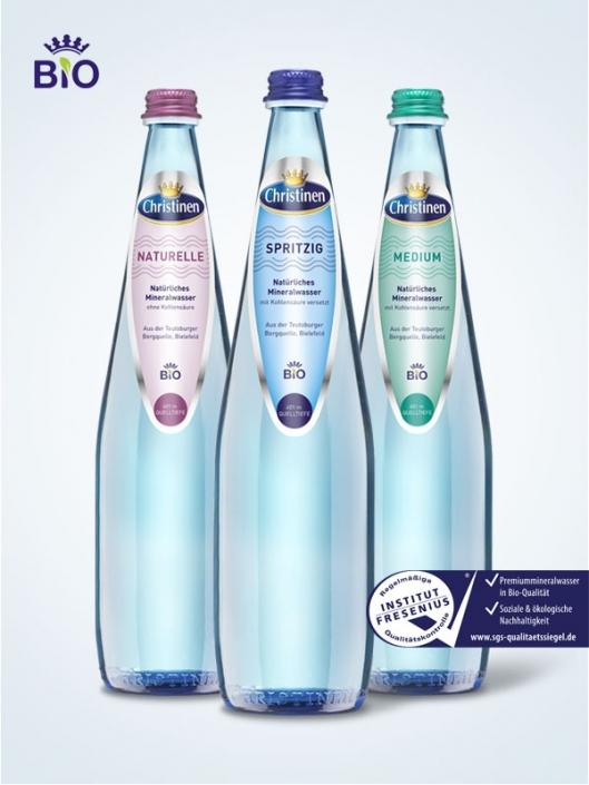 Christinen Premiummineralwasser in Bio-Qualität, 0,75l Glas, Mehrweg