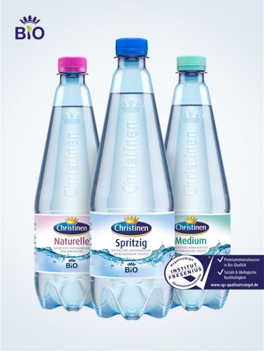 Christinen Premiummineralwasser in Bio-Qualität, 0,75l PET, Zweiweg