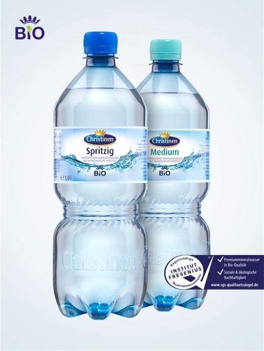 Christinen Premiummineralwasser in Bio-Qualität, 1l PET, Einweg