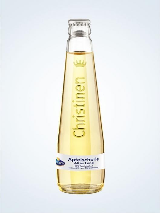 Christinen Apfelschorle Altes Land, 0,25l Glas, Gastro, Mehrweg