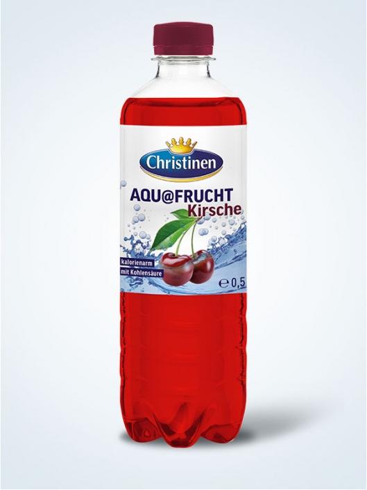 Christinen Aquafrucht Kirsche, 0,5l PET, Einweg