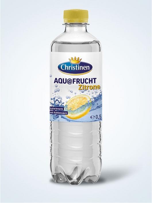 Christinen Aquafrucht Zitrone, 0,5l PET, Einweg