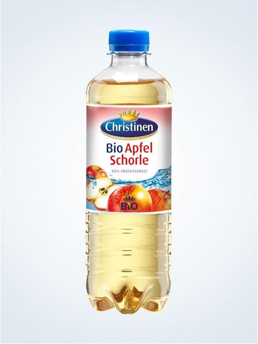 Christinen Bio-Apfelschorle, 0,5l PET, Cycle
