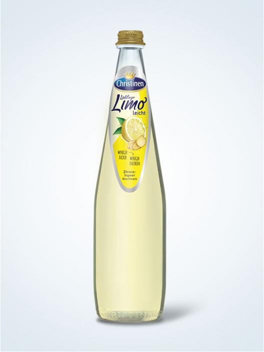 Christinen Lieblings-Limo Zitrone-Ingwer, 0,5l Glas, Mehrweg