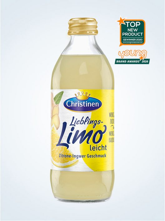 Christinen Lieblings Limo Zitrone Ingwer 033l Glas Quick