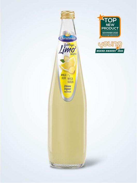 Christinen Lieblings Limo Zitrone Ingwer 075l Glas Mehrweg