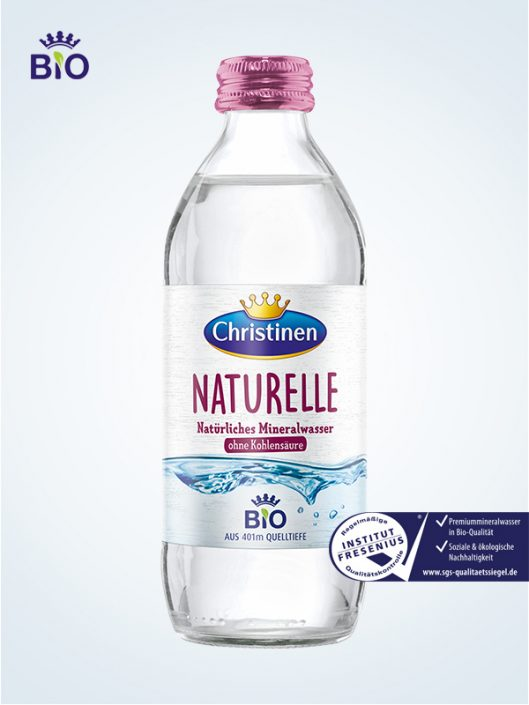 Christinen Bio Premiummineralwasser Naturelle 0,33 l Quick Glas Mehrweg